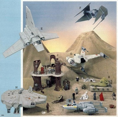 1984 Star Wars toys from Montgomery Wards Catalog, modified image courtesy of Wishbookweb.com