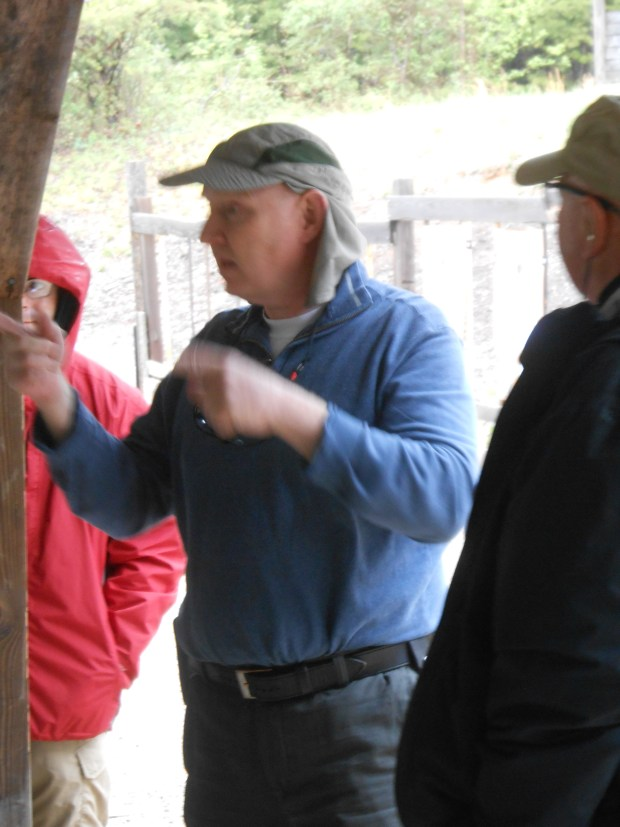 Michael teaching on a rainy day at TDI