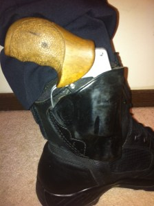 My 16-year old ankle holster.  It's in better shape than the gun it carries!