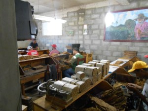 Visiting a cigar factory in the Dominican Republic