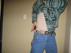 My late friend Paul Gomez demonstrating the horizontal elbow shield