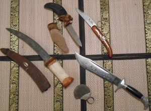 "All of these knives were purchased at third world markets as ""souvenirs."""