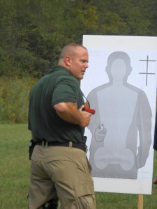 Demonstrating retention shooting positions