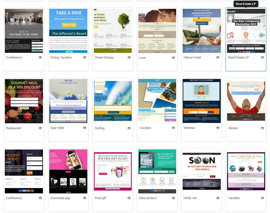 How to choose a landing page template that matches your campaign