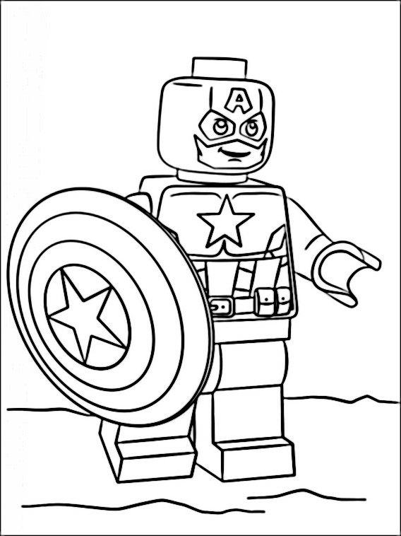 Coloring Lego Super Heroes Coloring Pages - Auto Electrical Wiring ...