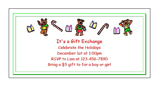 Free Printable Christmas Party Invitations for Kids - holiday party invitations free