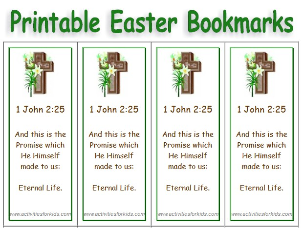Free Printable Easter Bookmarks - Select Picture, add Text - free printable religious easter cards