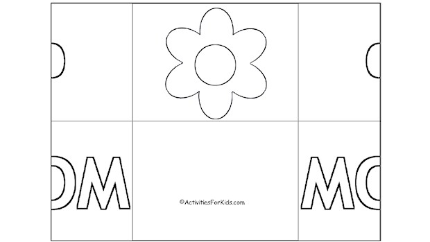 Folded Mother\u0027s Day Card - Activity for Kids