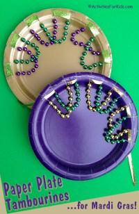 Mardi Gras Paper Plate Tambourine