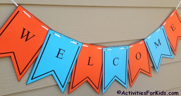Printable Welcome Banner Template First Day of School