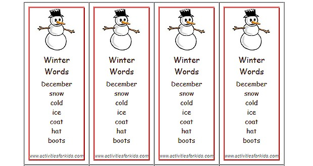 winter themed words - Boatjeremyeaton