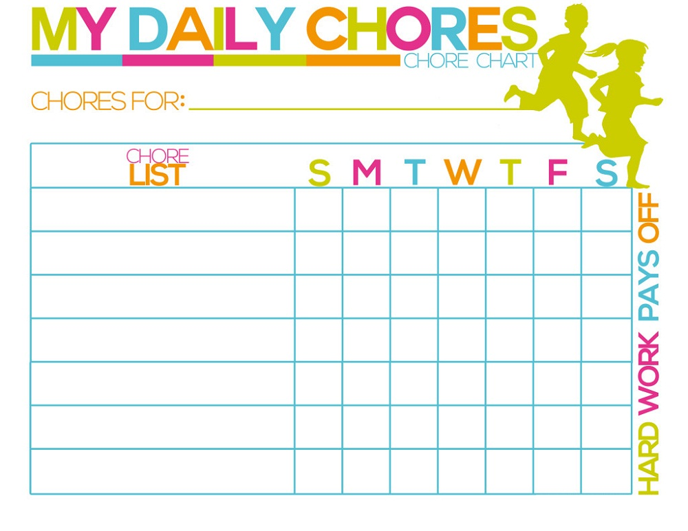 Printable Reward Charts for Kids Activity Shelter - blank reward chart template
