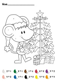 Free Color by Numbers Worksheets | Activity Shelter
