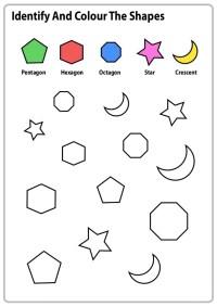 Color By Shapes Worksheets Activity Shelter Worksheet ...