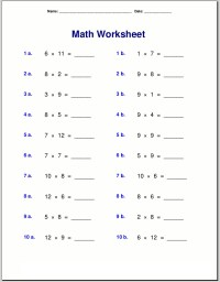 Math Quiz Worksheets to Print | Activity Shelter