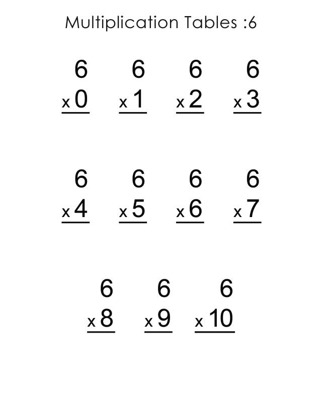 Vertical Multiplication Facts Worksheets 1000 Ideas About - horizontal multiplication facts worksheets