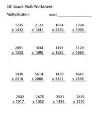 Free 5th Grade Math Worksheets | Activity Shelter
