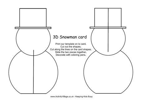 3D Christmas Snowman - snowman template
