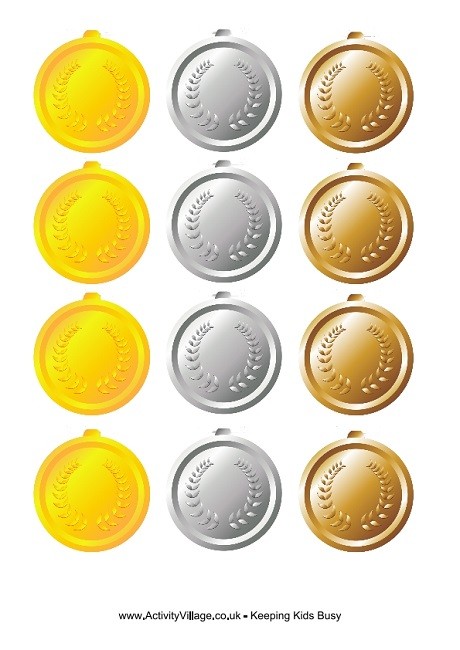 Olympic Medals to Print - gold medal templates