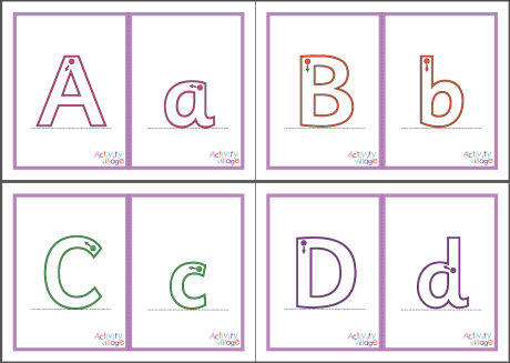 Alphabet Flash Cards - Mixed Cases - Large - Guided