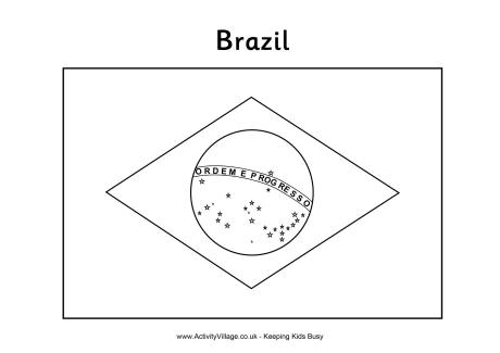 Flag Of Brazil Coloring Page