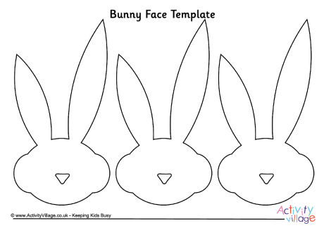 easter bunny face template - Minimfagency - face template printable