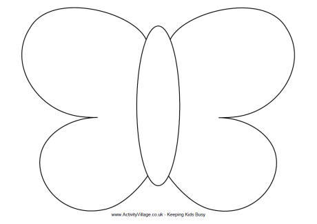 Simple Butterfly Template - butterfly template