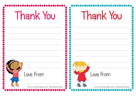 Children Thank You Notes