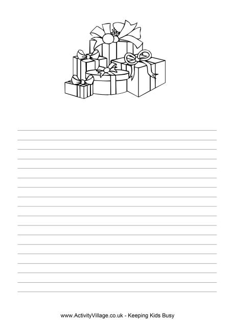 Writing paper with holiday borders  Best custom paper writing