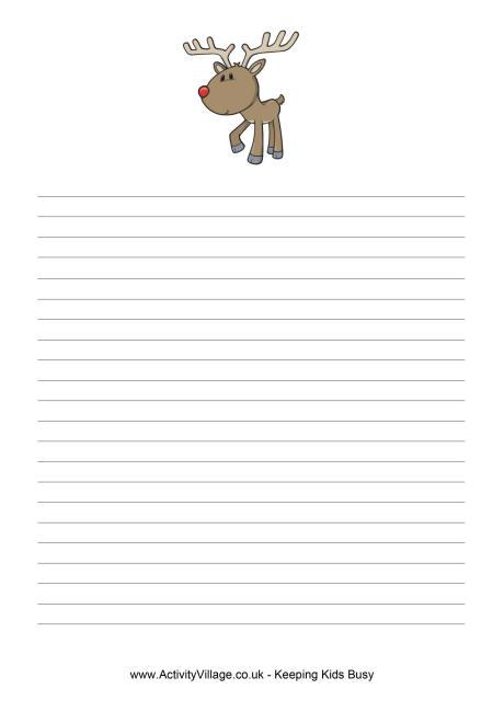christmas reindeer letter template - free christmas list template