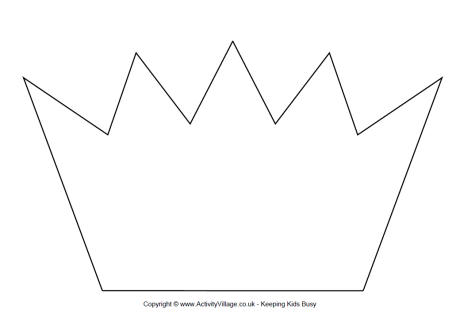 Crown Template Printable 1 - crown template