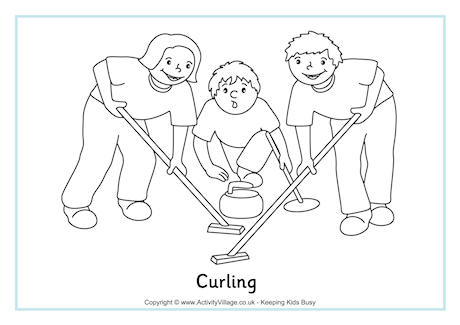 Curling Colouring Page - Culring Pajis