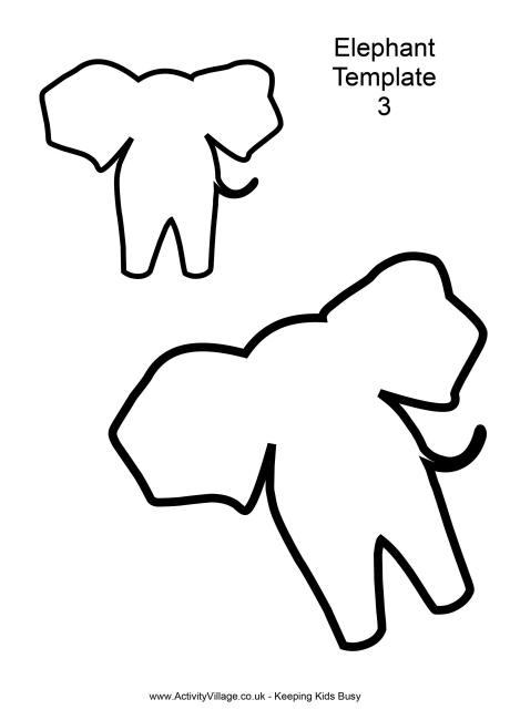 Elephant Template 3 - elephant cut out template