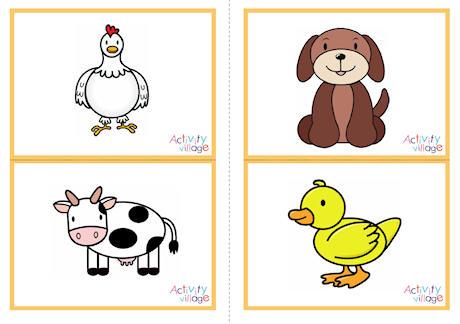 Farm Animal Flashcards - Printable