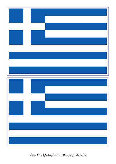Greece Flag Printables - Colouring Flag, Flag Jigsaw