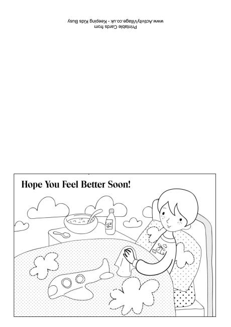 Get Well Soon Colouring Cards