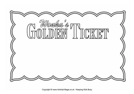 Golden Ticket - Blank - blank tickets template