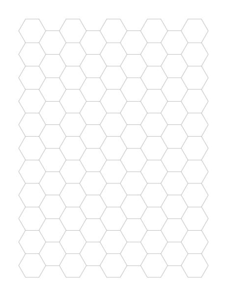 Grid Paper Hexagonal Grid