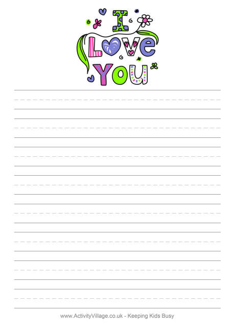 free writing paper online valentine letter writing stationery - printable letter paper with lines