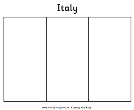 Italy Flag Printables For Kids