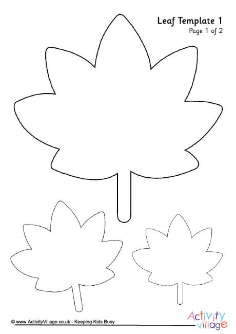 Leaf Template 1 - leaf template