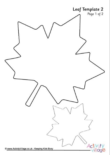 Autumn Templates - leaf template