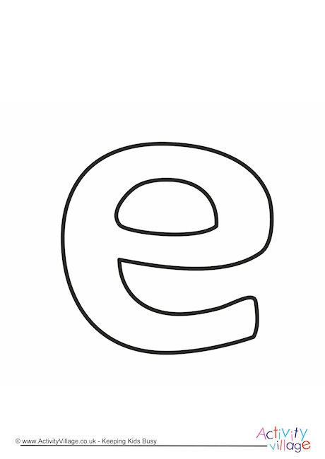 Letter Template Lower Case E Quirky