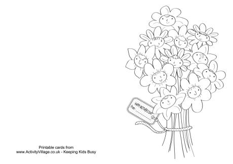 Mother\u0027s Day Colouring Cards