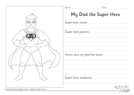 More Father\u0027s Day Worksheets