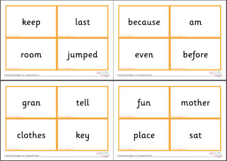 Next 200 Common Words Flash Cards 2