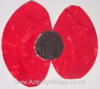 Paper Plate Poppy Craft for Toddlers