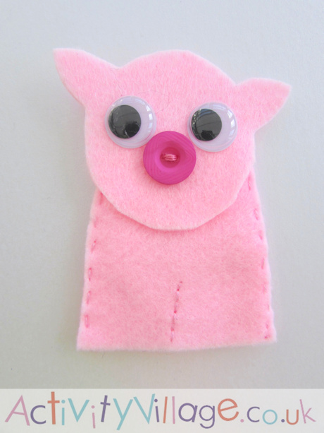 Pig Finger Puppet Craft