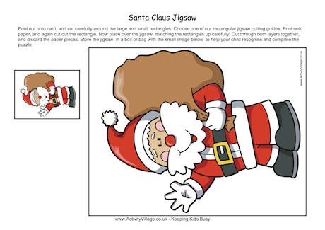 Printable Jigsaw - Santa Claus