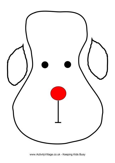 Reindeer Face Template - blank face template printable